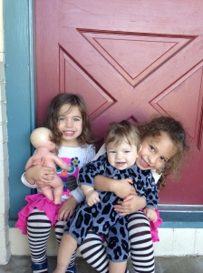 "These big sisters love playing with their baby sister who they now affectionately call ""Nono"""
